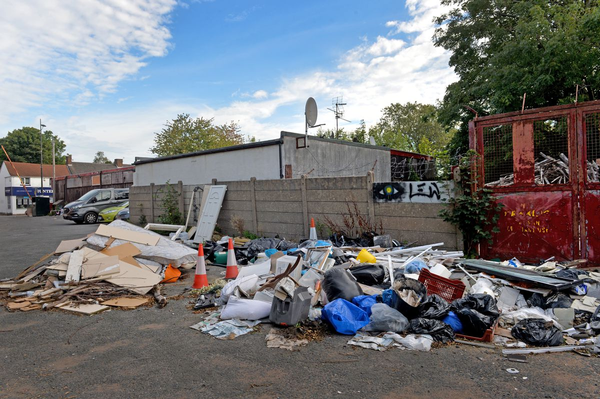Rubbish has been dumped on car park at the former Gould's site in Sedgley.