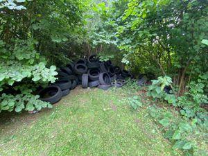 The tyres were dumped in Wednesbury.