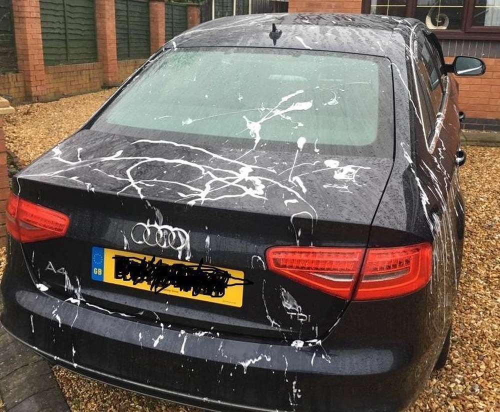 Vandals slash tyres and strip paint causing £20k damage to