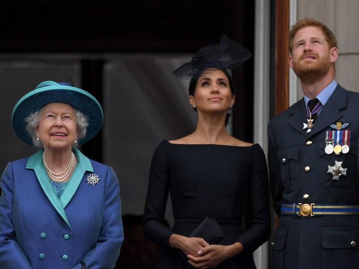 The Queen, Meghan and Harry