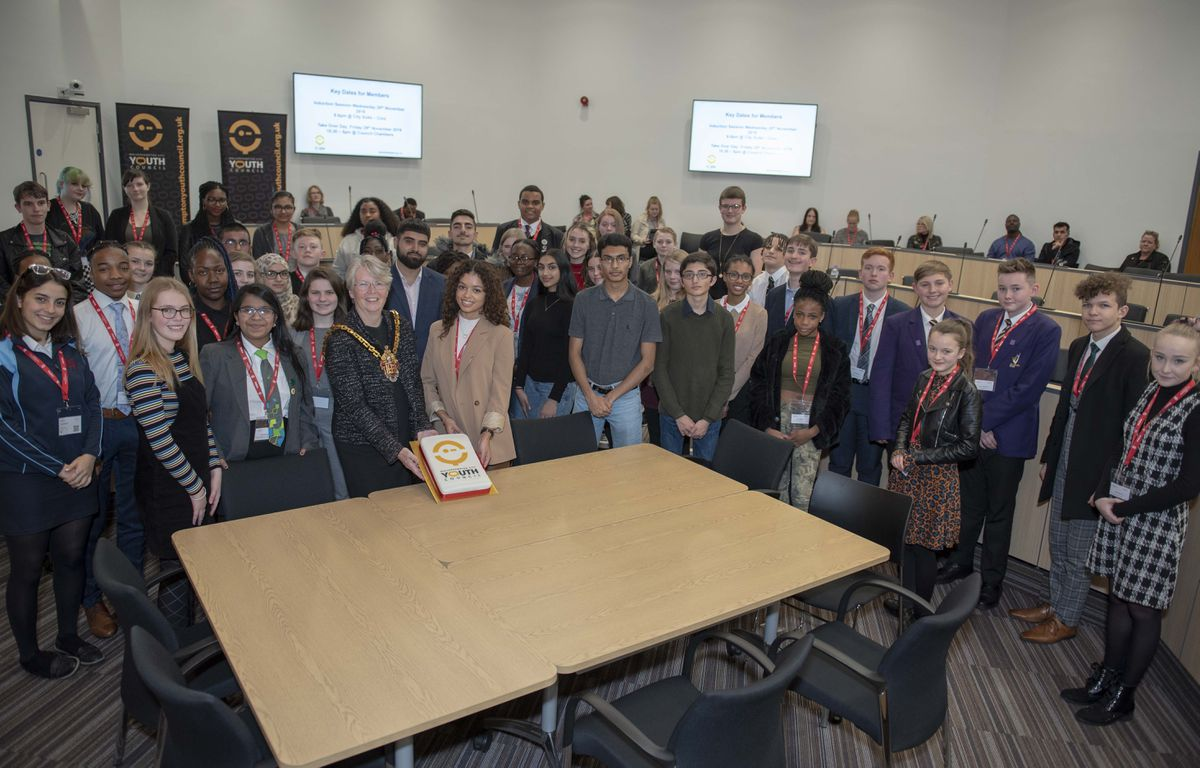 Mayor Councillor Claire Darke welcomes a record number of young people to the Youth Council