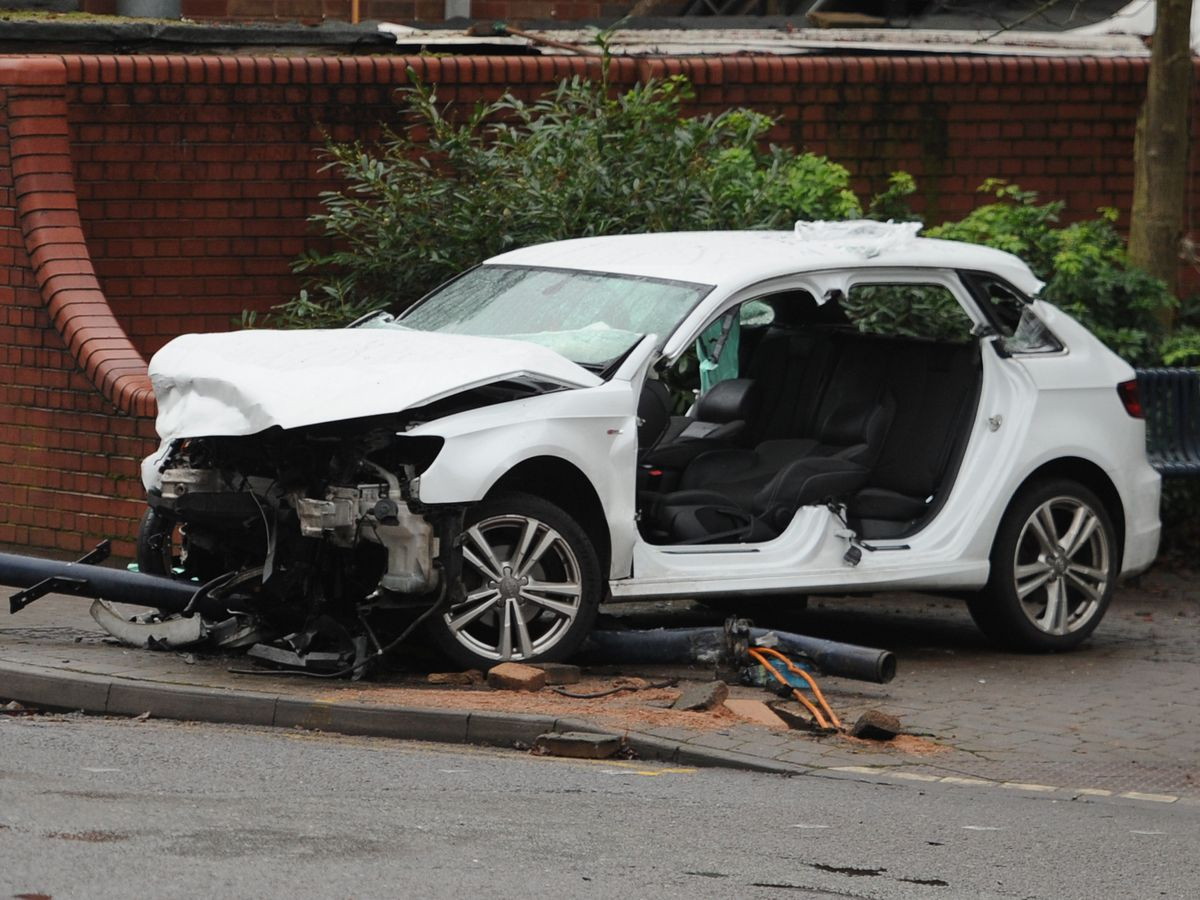 This Audi was involved in a crash with a BMW in Bilston, Wolverhampton