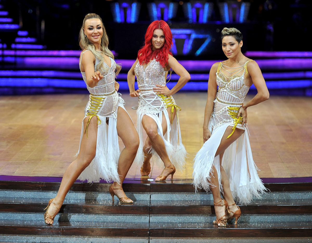 Strictly professionals Luba Mushtuk, Dianne Buswell and Karen Hauer