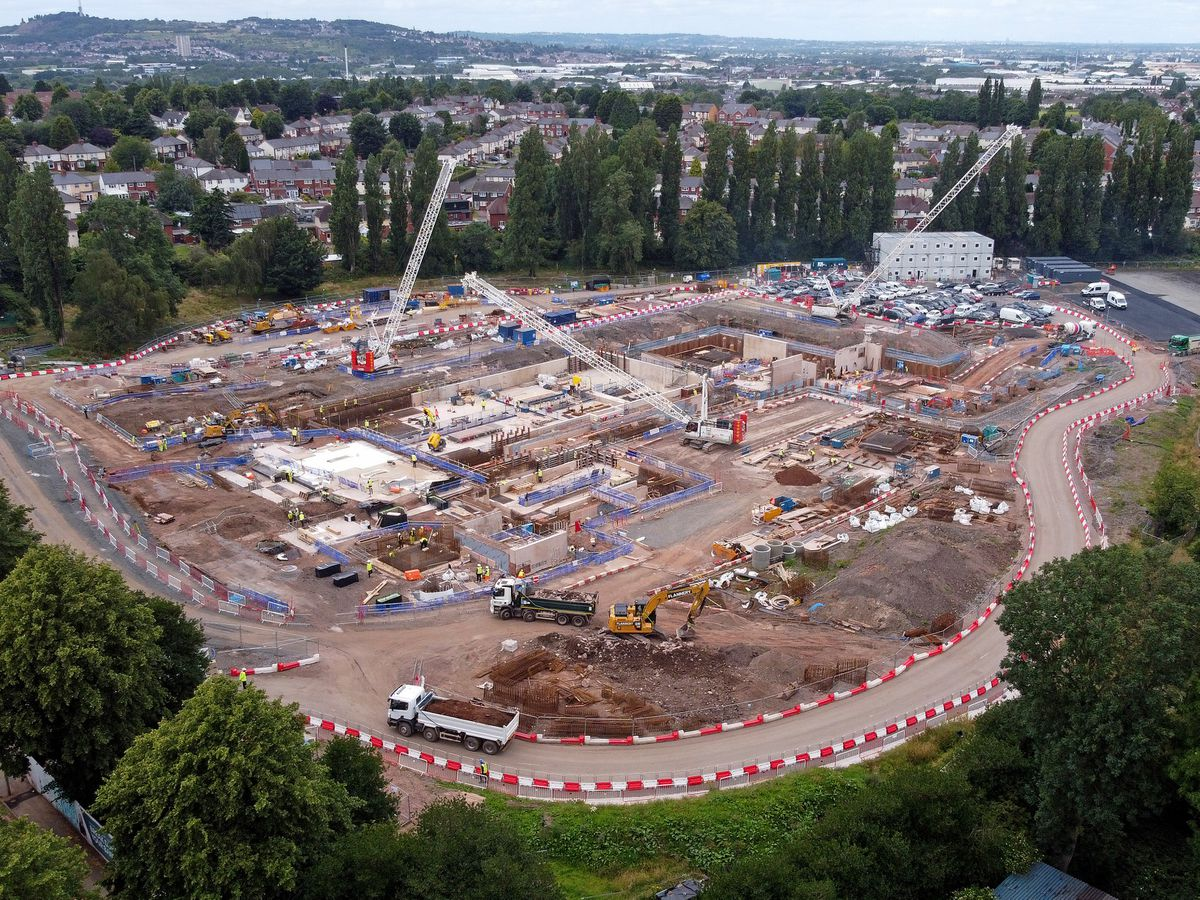 Drone photographs taken by the Express & Star shows the progress being made on the Aquatics Centre in Smethwick