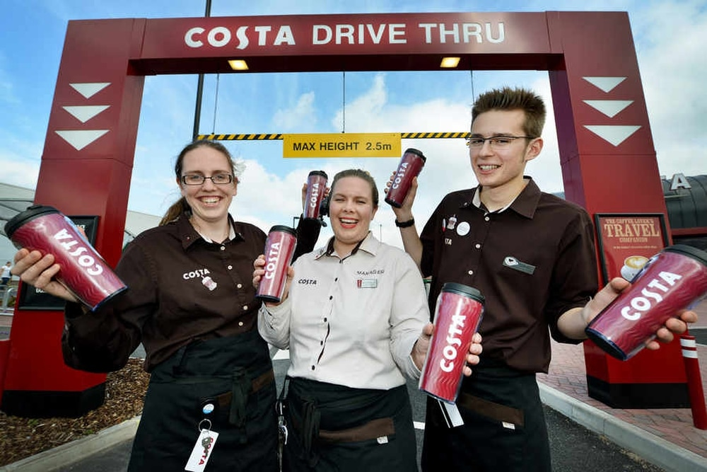 Drive Through Costa Coffee Opens In Cannock Express Amp Star