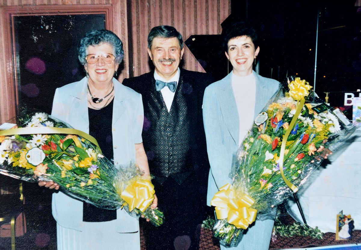 Brian, his wife Margaret and their daughter Angela around 1988