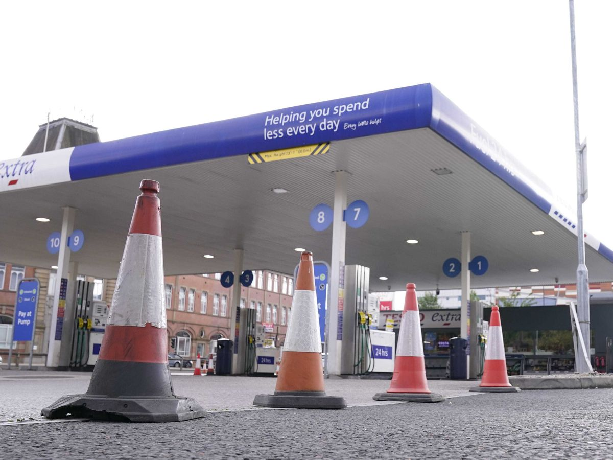 A petrol station in Sheffield which is closed