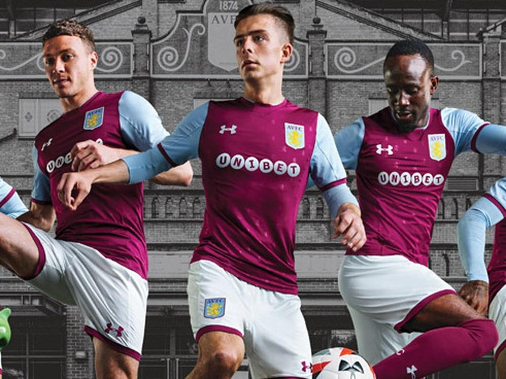 894dea798 Aston Villa reveal 2017 18 home and away kits