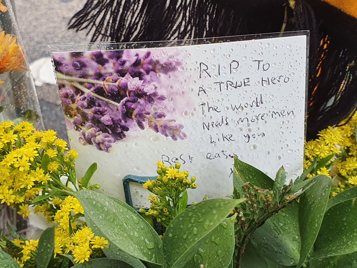 Notes paying tribute to Reece were also left