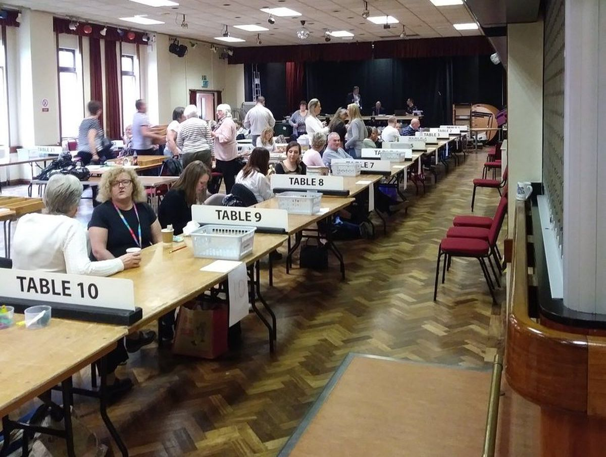 The count at Cannock Chase Civic Centre