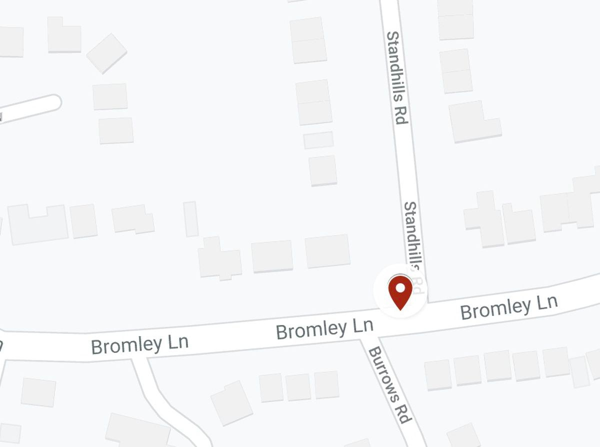 The crash happened in Bromley Lane, near the junction with Standhills Road