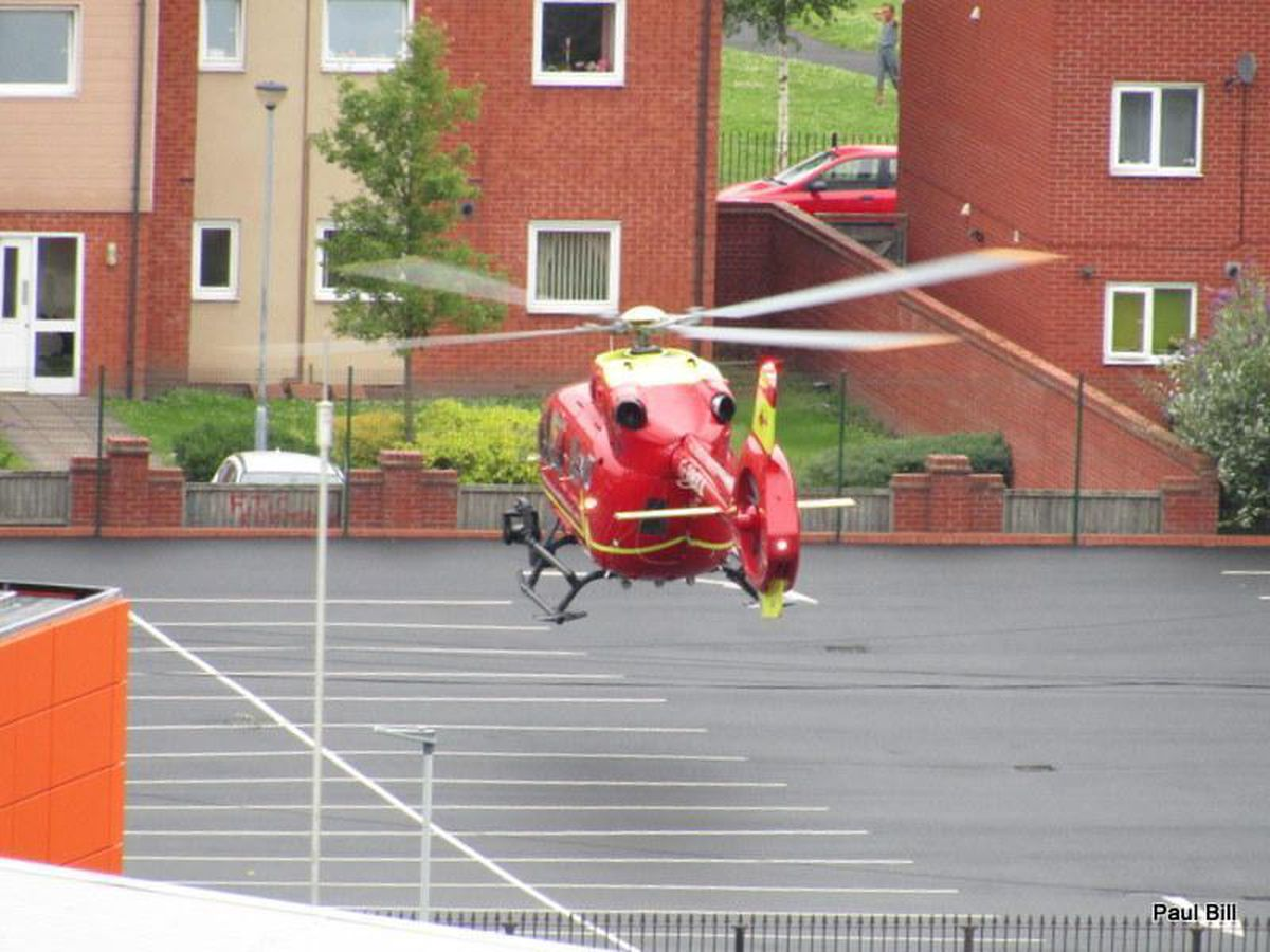 An air ambulance landed nearby. Photo: Paul Bill