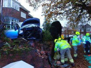The scene of the crash. Photo: Haden Cross Fire Station