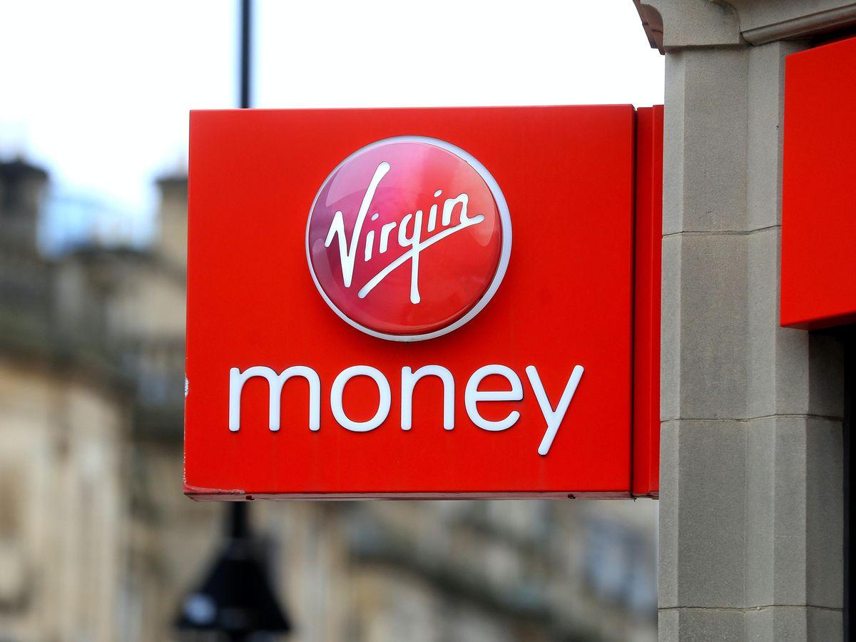 A Virgin Money sign