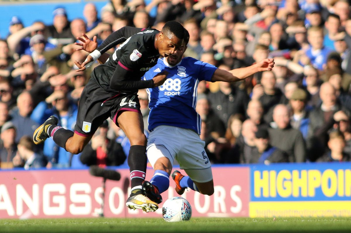 Jonathan Kodjia was forced off late in Sunday's game. Pic: Tony Marsh.