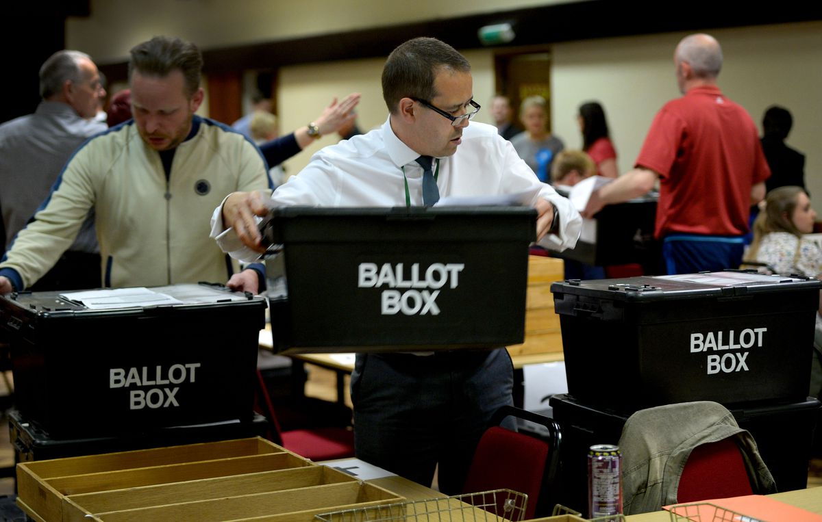 Ballot boxes arrive at Cannock Civic Centre