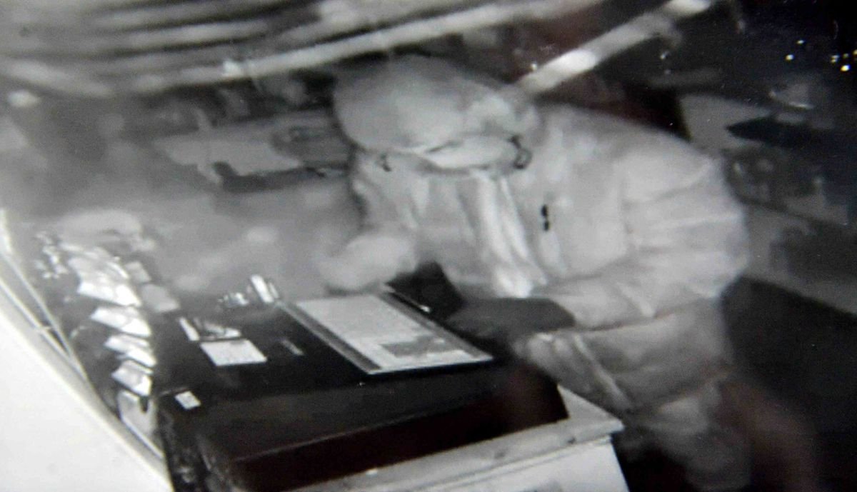 CCTV images from a recent break in at AFC Bridgnorth