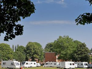 Travellers have set up camp in Bloxwich Park, Walsall