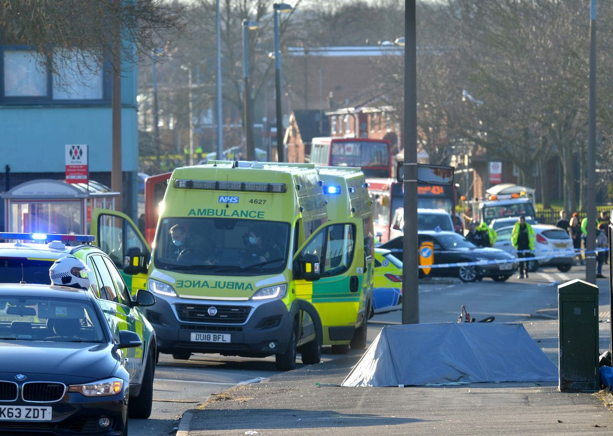 Paramedics dealing with the hit-and-run were then sent to help the stabbing victim