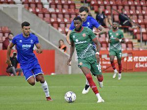 Emmanuel Osadebe in action at Cheltenham (Credit: Walsall FC)