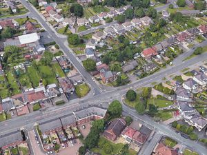 An aerial view of Paddock Lane and Walsall Road in Aldridge. Photo: Google