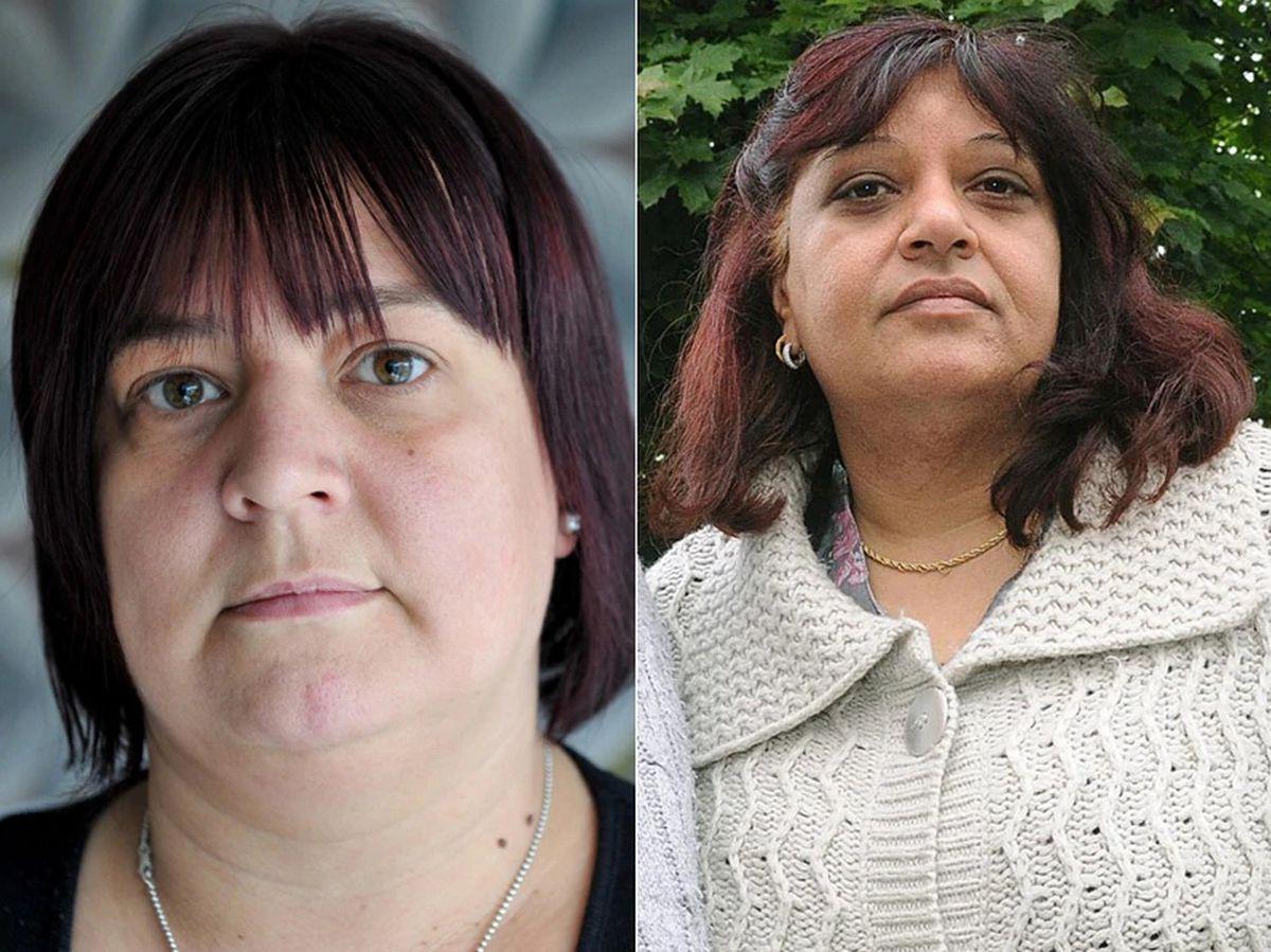 Tracy Felstead, left , from Telford, and Rubbina Shaheen, right, from Worthen, near Shrewsbury