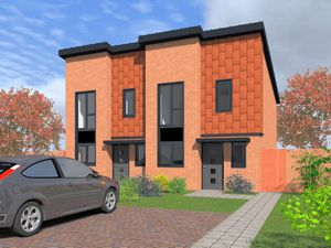 Artist's impression of the new council housing on Heath Town estate