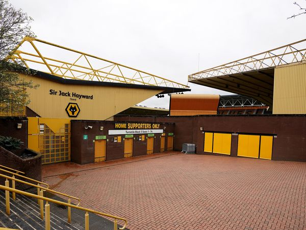 A general view outside of the Molineux Stadium, home of Wolverhampton Wanderers, after it was announced that Professional football in England will not resume until April 30 at the earliest due to the coronavirus pandemic. PA Photo. Picture date: Thursday March 19, 2020. Photo credit should read: Morgan Harlow/PA Wire