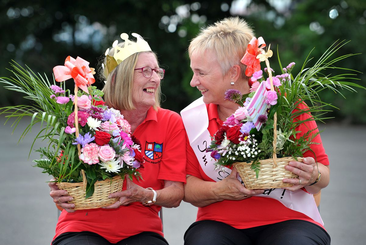 Cherry Williams and Eleanor Thomson who are retiring