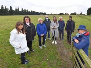 Residents are campaigning against plans for a new housing estate on land off Calderfields in Walsall
