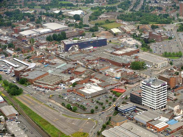 SANDWELL PIC  COPYRIGHT EXPRESS&STAR TIM THURSFIELD 08/07/09 An aerial pic over West Bromwich town centre..  (28147846)