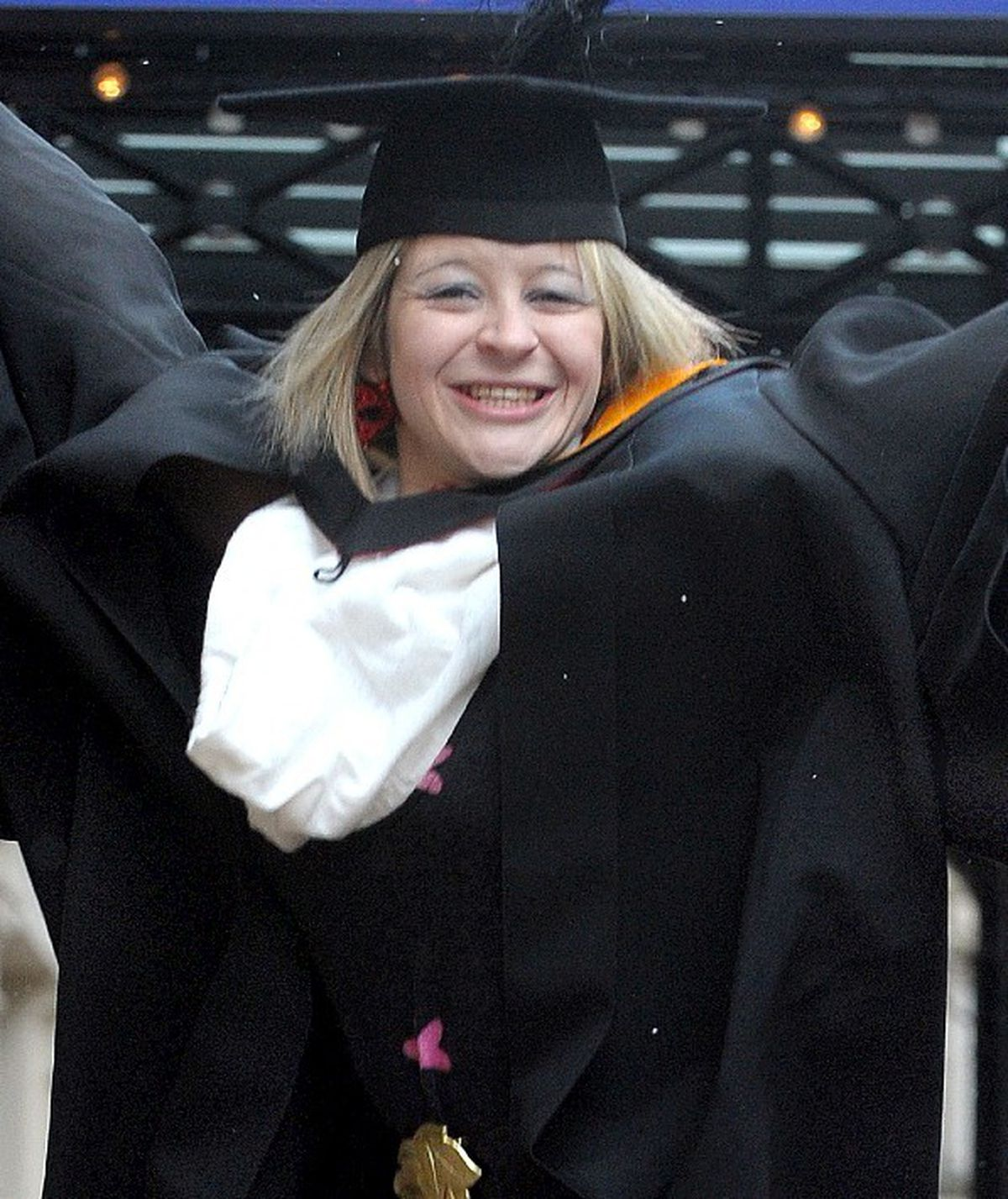 Lucy Fox at her graduation in 2009