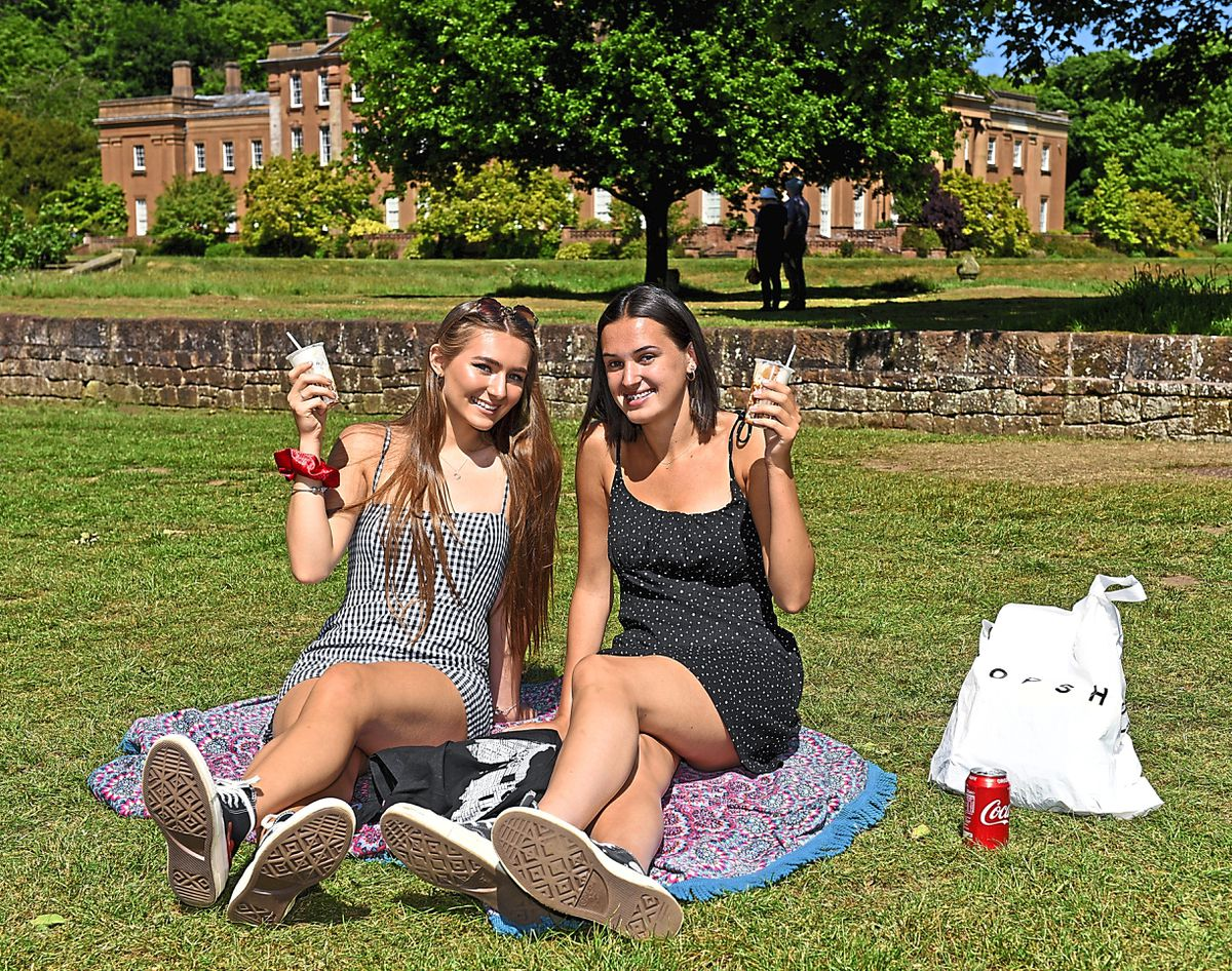 Leah Riley and Ella Stokes, from Brierley Hill, headed to Himley Park