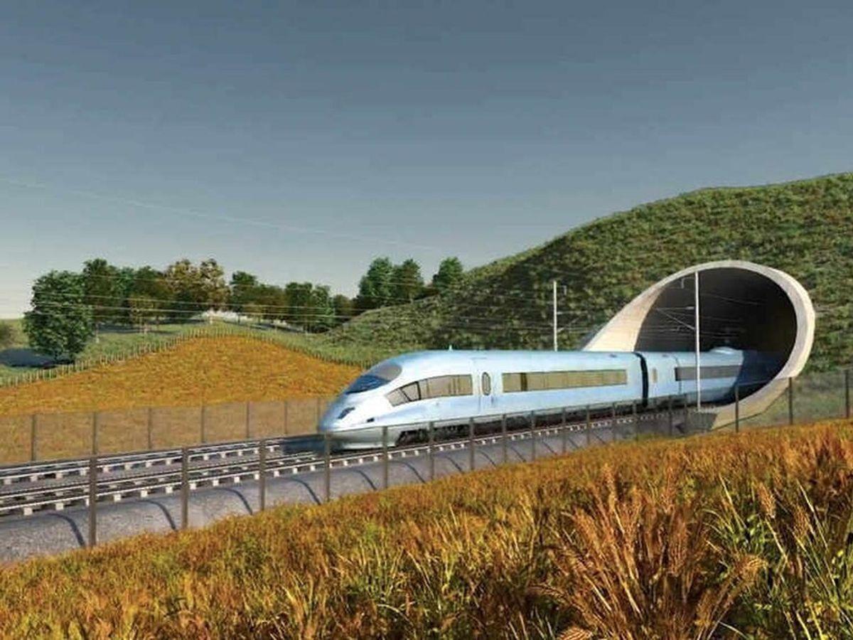 The high-speed train line will cut through Hopton