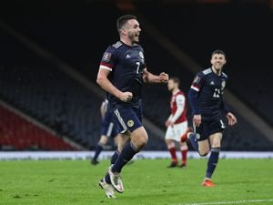 John McGinn celebrates