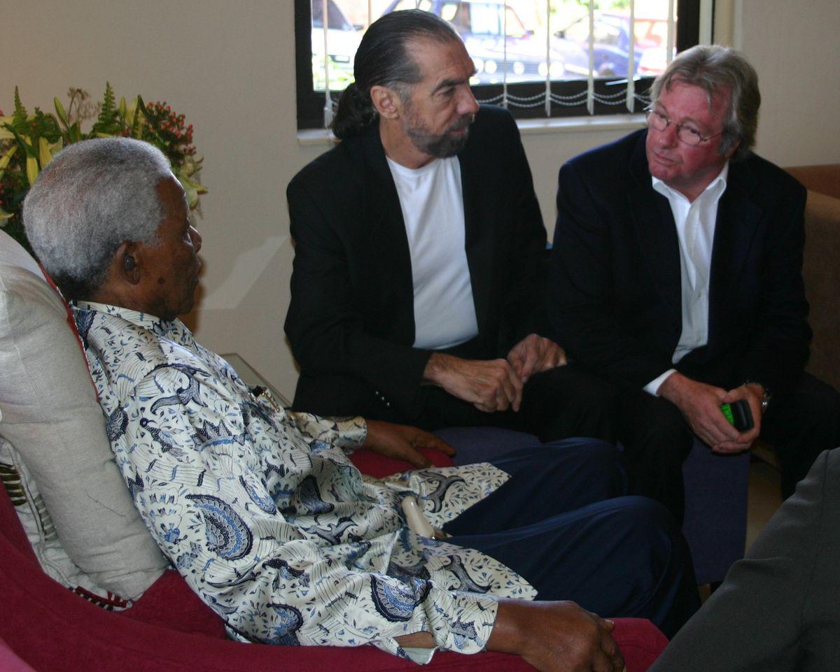 With Nelson Mandela and businessman John Paul DeJoria