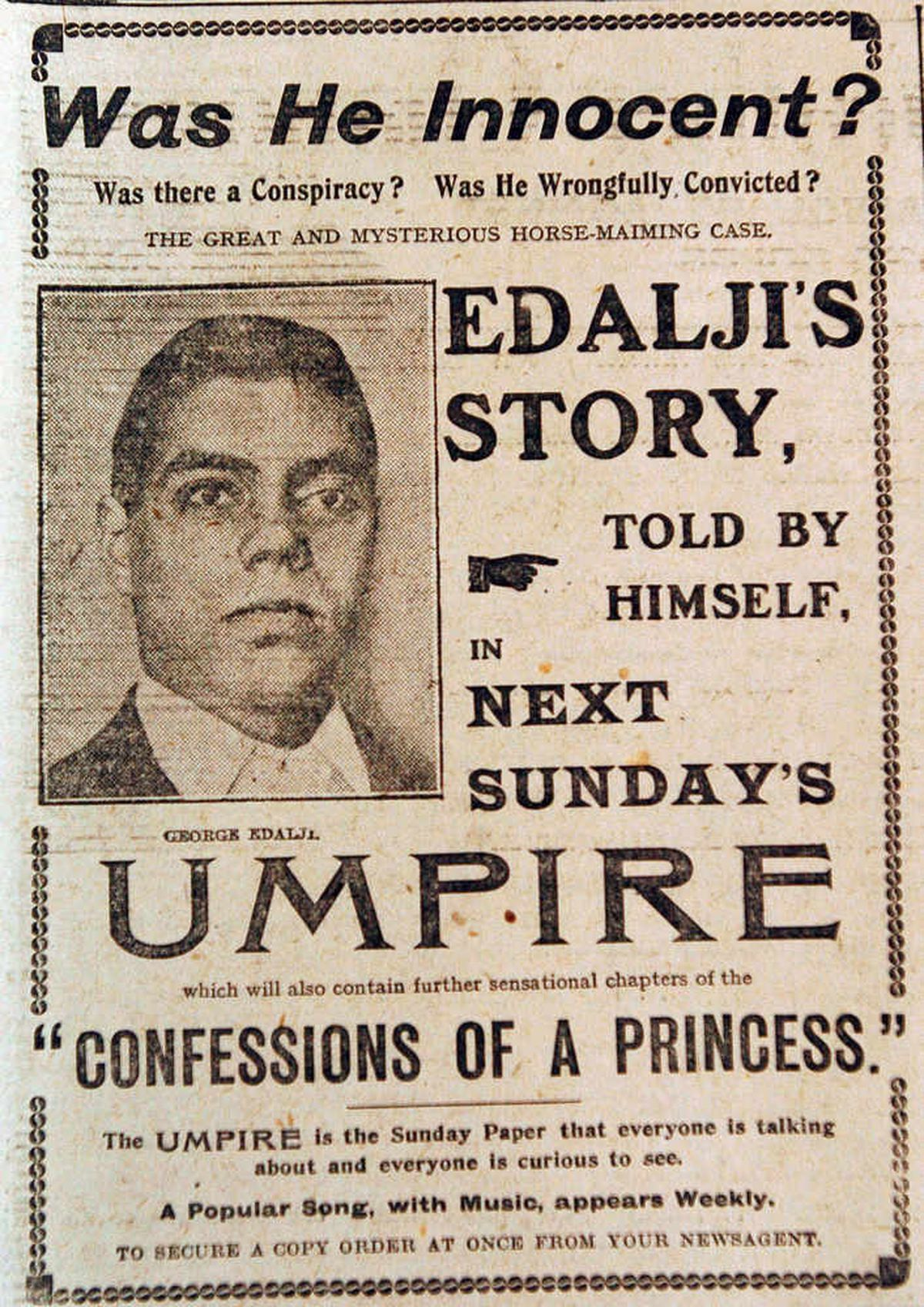 Court story copy from the Express & Star about the case of George Edalji.
