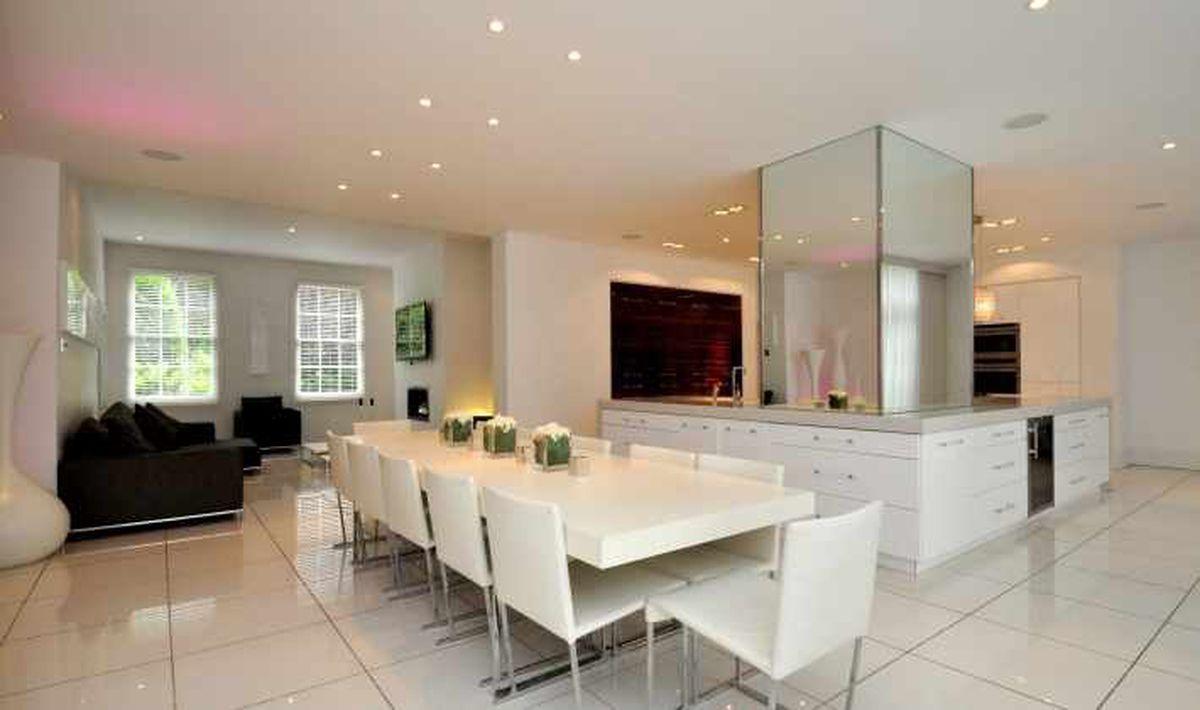 The luxury kitchen area