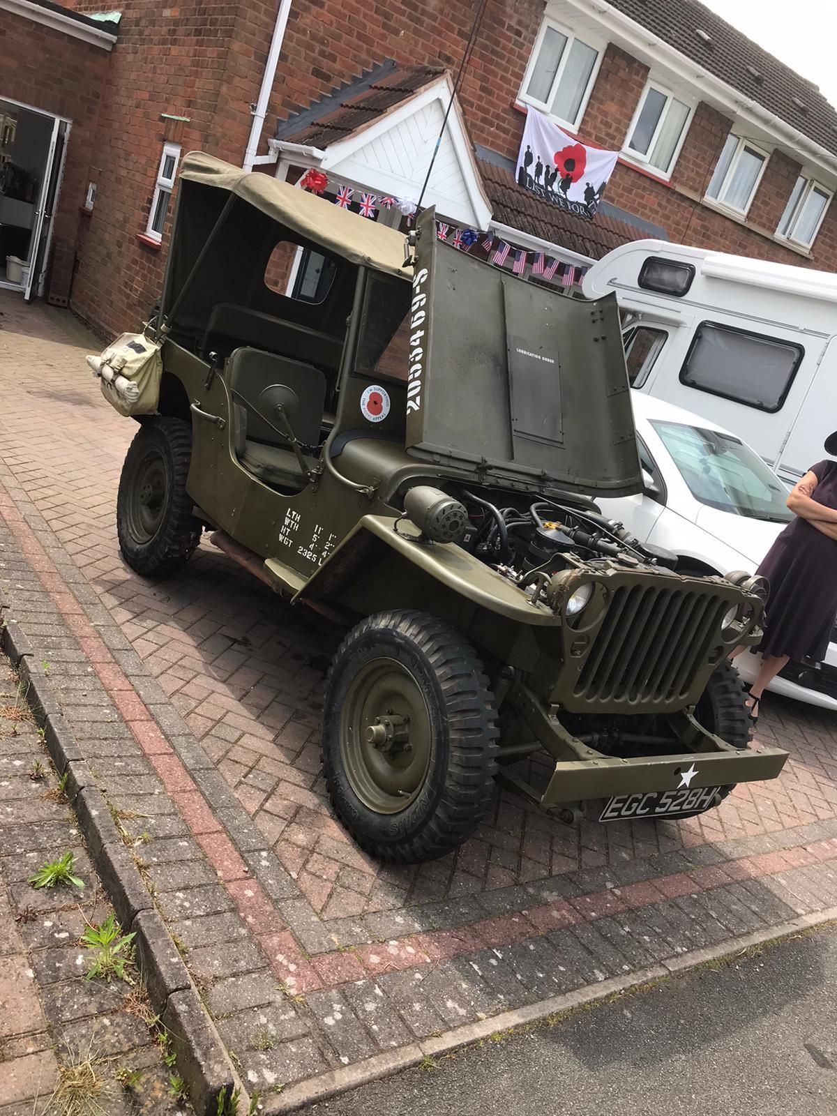 An army vehicle on display for VE Day on Redhurst Drive, Wolverhampton. Picture from: Joseph Richards