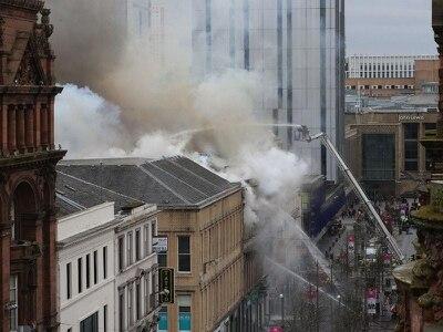 'Massive blaze' engulfs building in Glasgow city centre