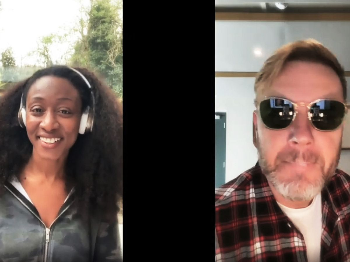 Beverley Knight and Gary Barlow during the Crooner Sessions