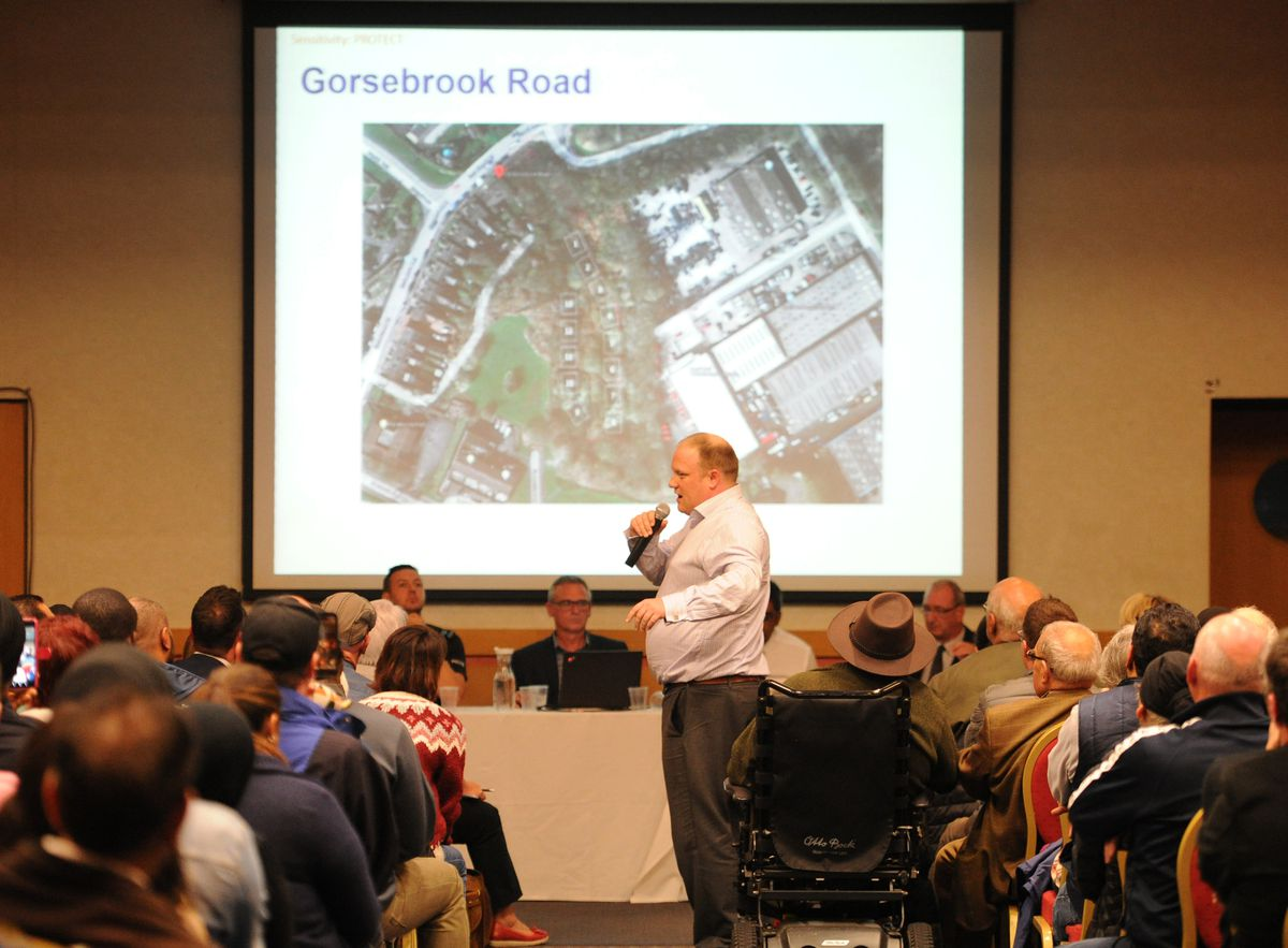 Head of business services Colin Parr made a presentation to the meeting