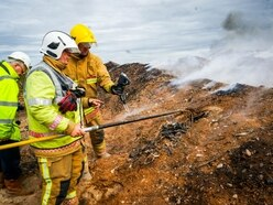 Slitting Mill fire can FINALLY be extinguished after burning for 16 months