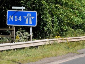 The crash happened on the M54 at around 7.45am.