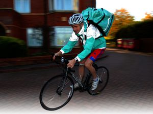 Reporter Alex Ross, who has started delivering for Deliveroo, around Wolverhampton