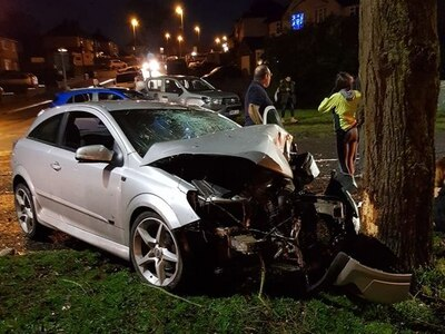 Teenagers arrested after crash in Brierley Hill