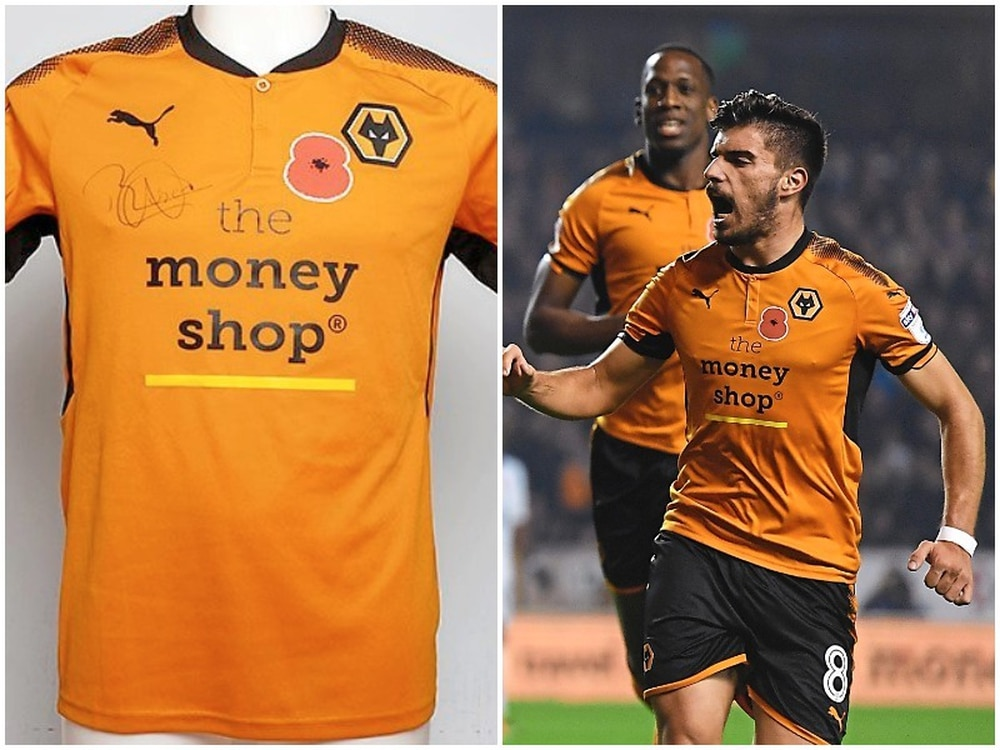 Rúben Neves  shirt which was the most expensive Wolves shirt sold at  auction for charity. (Match image - Credit  AMA) bc15d0880