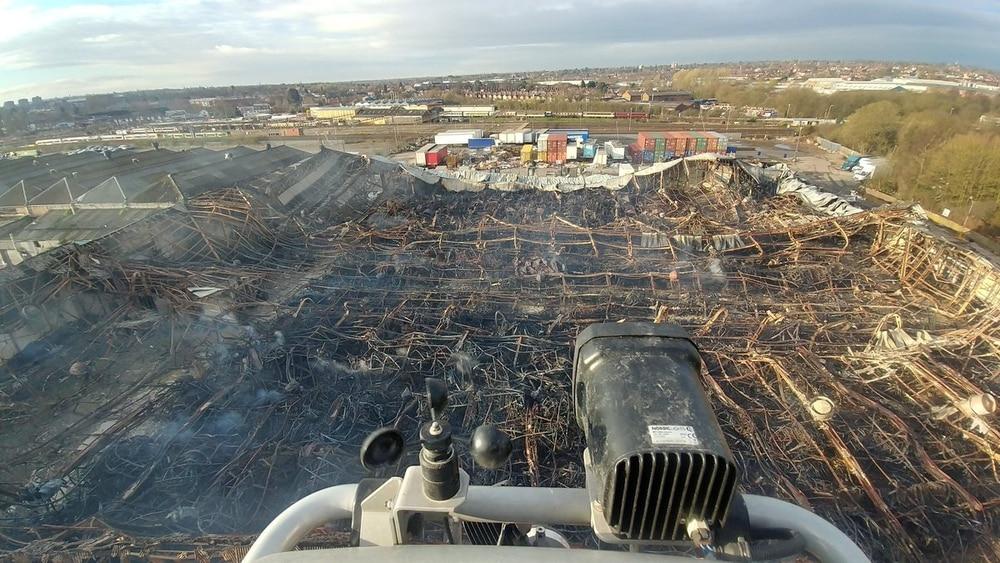Image shows damage to factory after Birmingham blaze