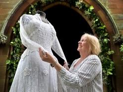 Wedding dresses put on display at Trysull church