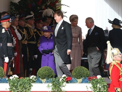 King and Queen of the Netherlands welcomed to Britain on state visit